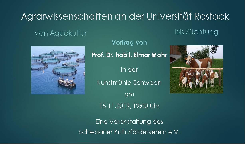 Agrarwissenschaften an der Uni Rostock
